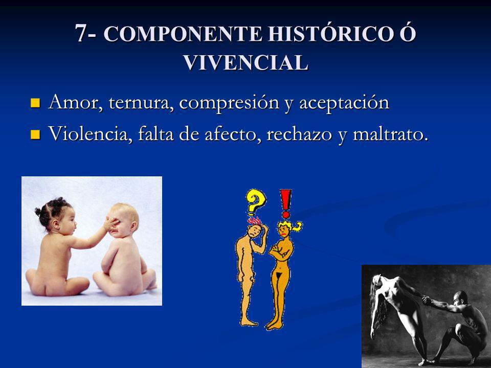 7- COMPONENTE HISTÓRICO Ó VIVENCIAL