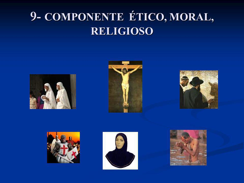 9- COMPONENTE ÉTICO, MORAL, RELIGIOSO