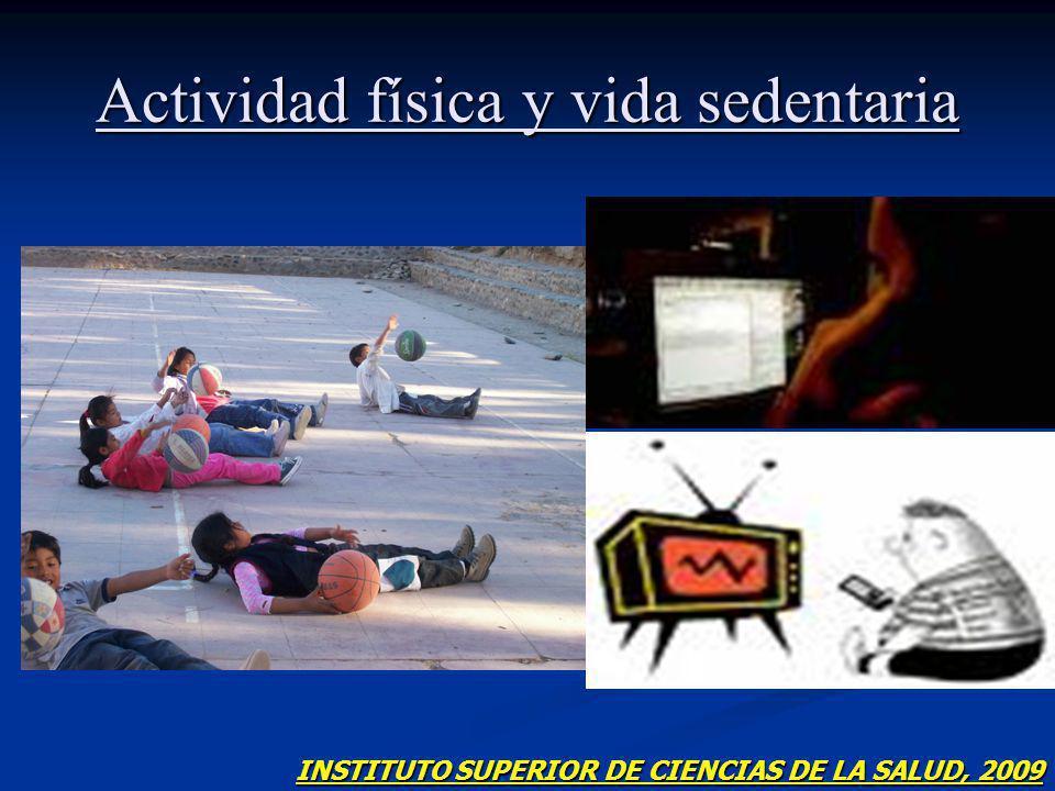 Actividad física y vida sedentaria