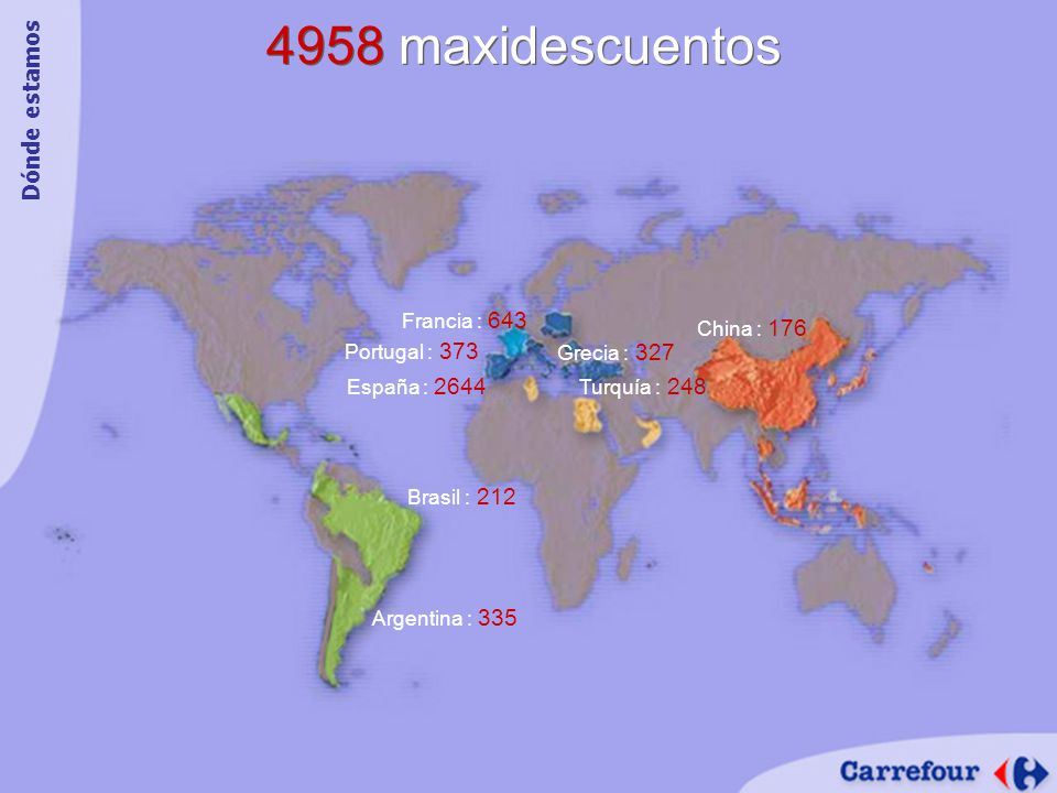 4958 maxidescuentos Dónde estamos Francia : 643 China : 176