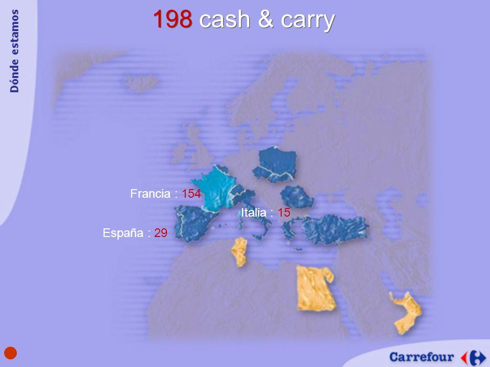 198 cash & carry Dónde estamos Francia : 154 Italia : 15 España : 29