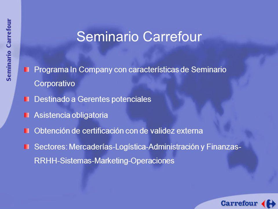 Seminario Carrefour Seminario Carrefour. Programa In Company con características de Seminario Corporativo.