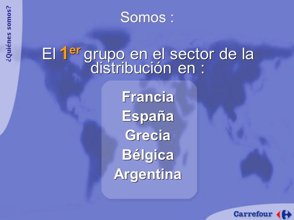 El 1er grupo en el sector de la distribución en :