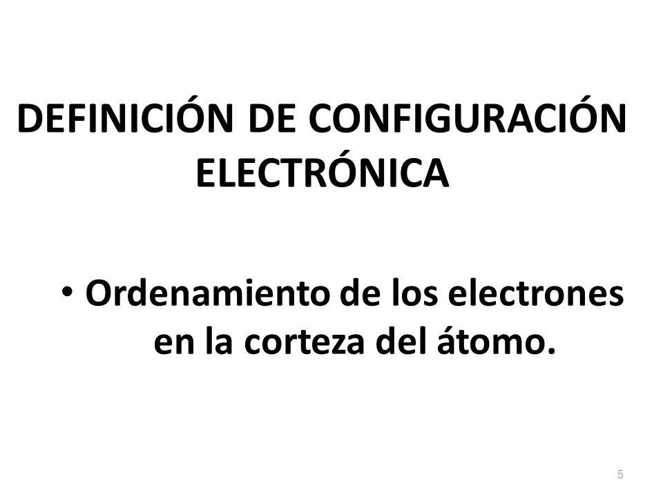 DEFINICIÓN DE CONFIGURACIÓN ELECTRÓNICA