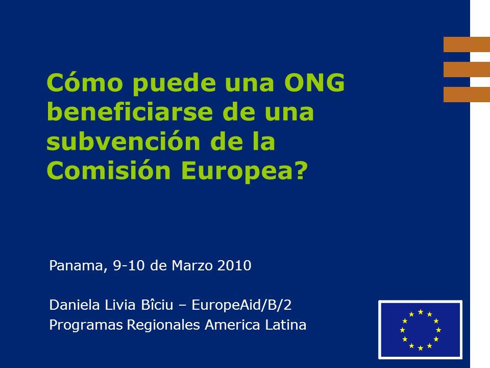 Cómo puede una ONG beneficiarse de una subvención de la Comisión Europea