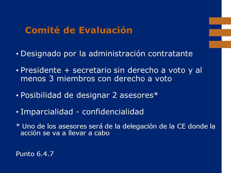 Comité de Evaluación Designado por la administración contratante