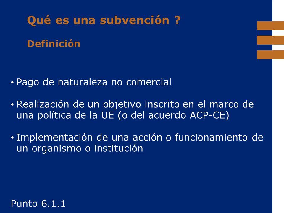 Qué es una subvención Definición