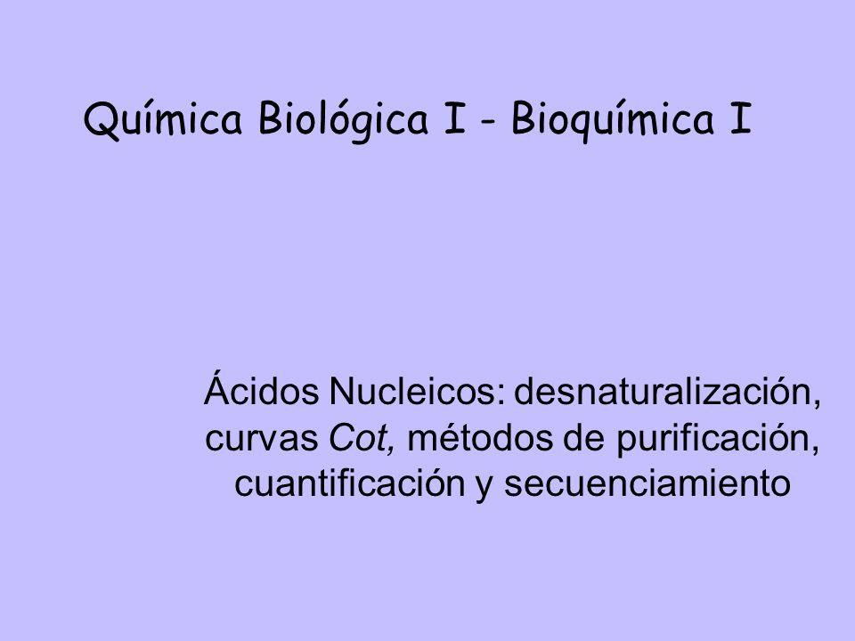 Química Biológica I - Bioquímica I