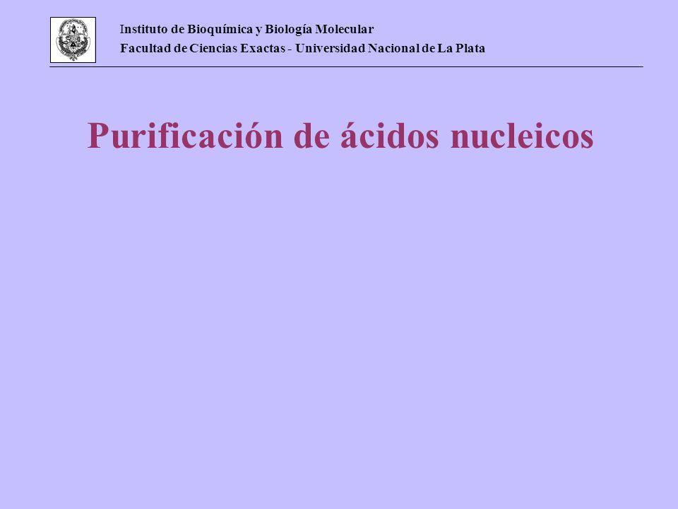 Purificación de ácidos nucleicos