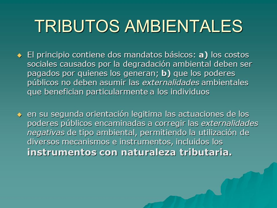TRIBUTOS AMBIENTALES
