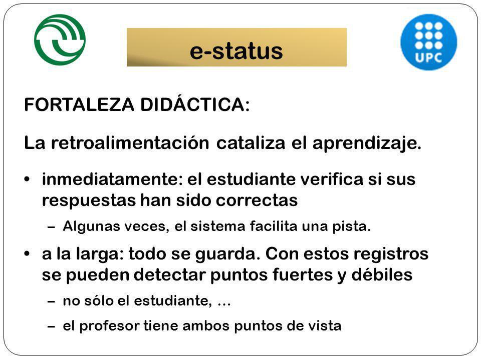 e-status FORTALEZA DIDÁCTICA: