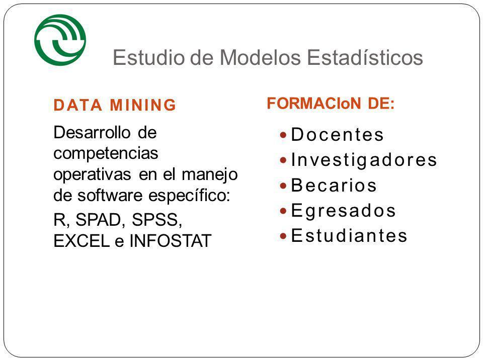 Estudio de Modelos Estadísticos