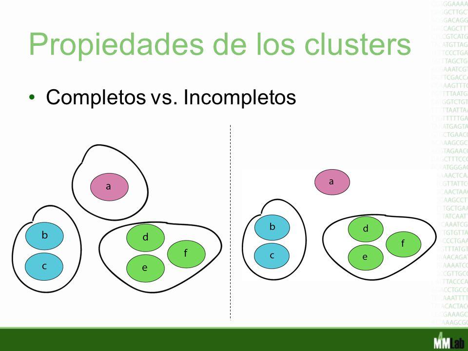 Propiedades de los clusters