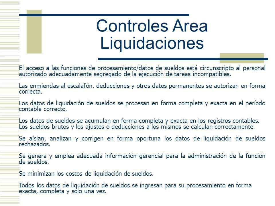 Controles Area Liquidaciones
