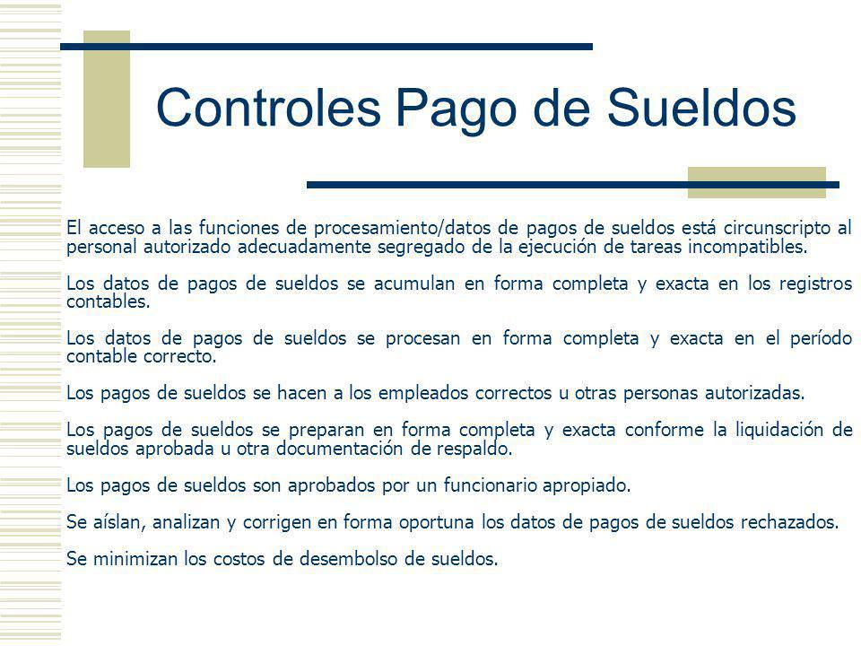 Controles Pago de Sueldos
