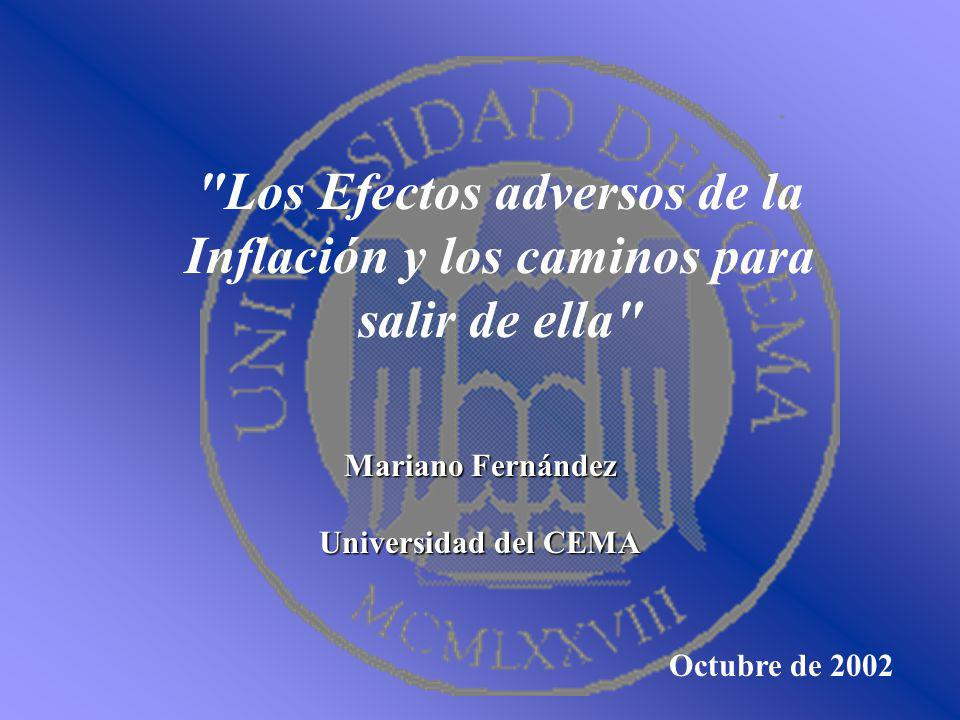 Los Efectos adversos de la Inflación y los caminos para salir de ella