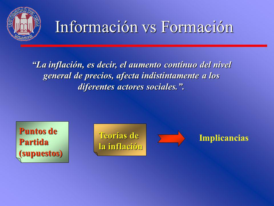 Información vs Formación