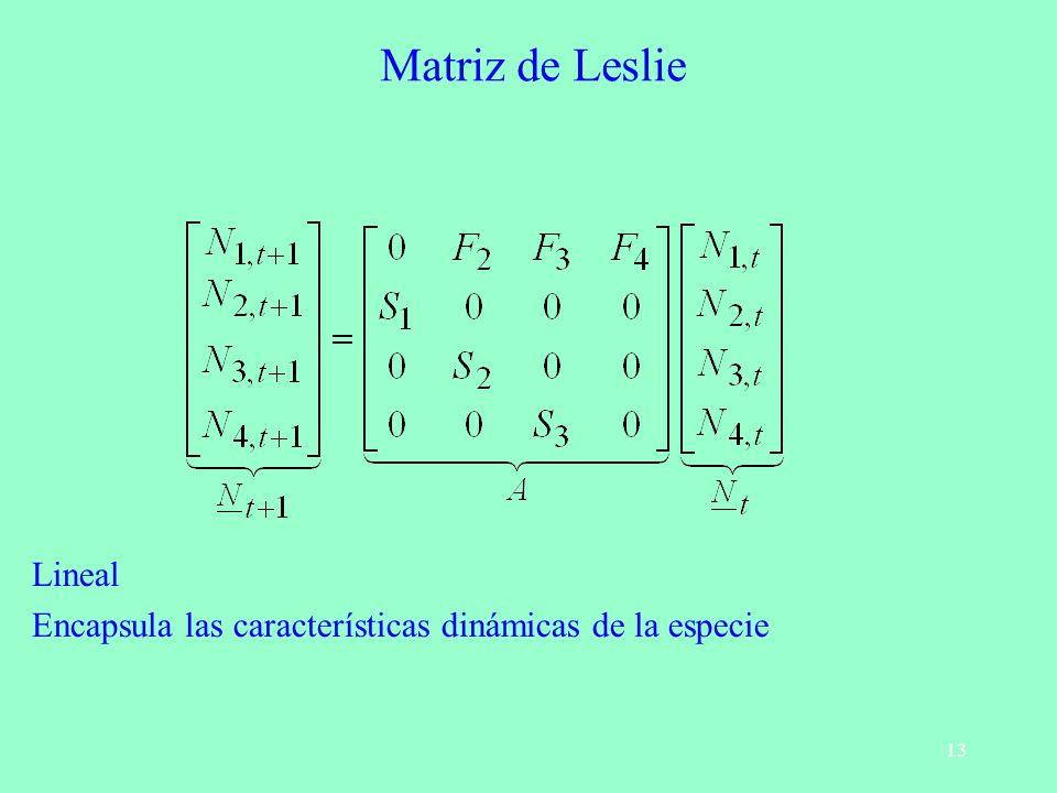 Matriz de Leslie Lineal