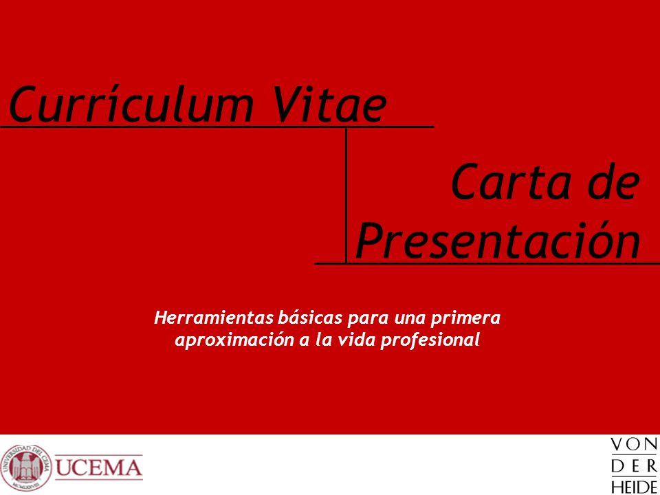 Currículum Vitae Carta de Presentación