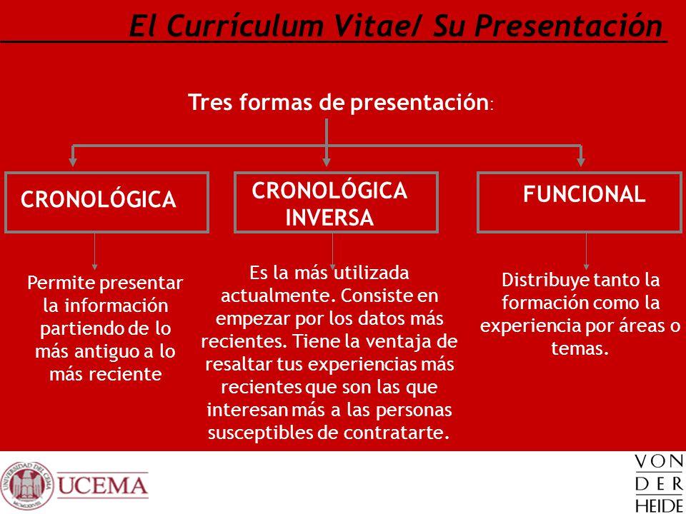 El Currículum Vitae/ Su Presentación