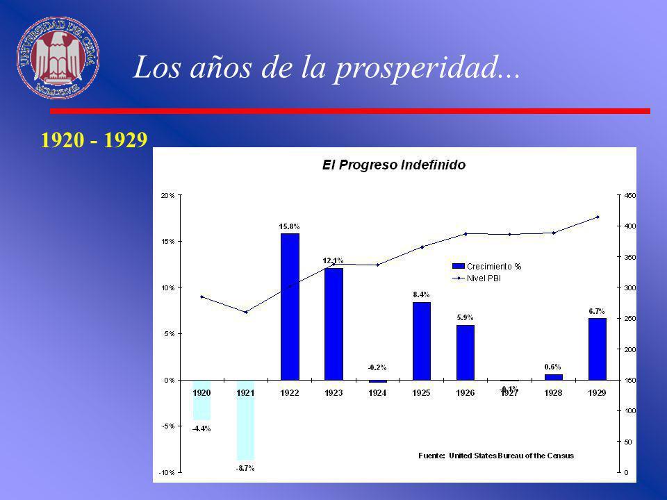 Los años de la prosperidad...