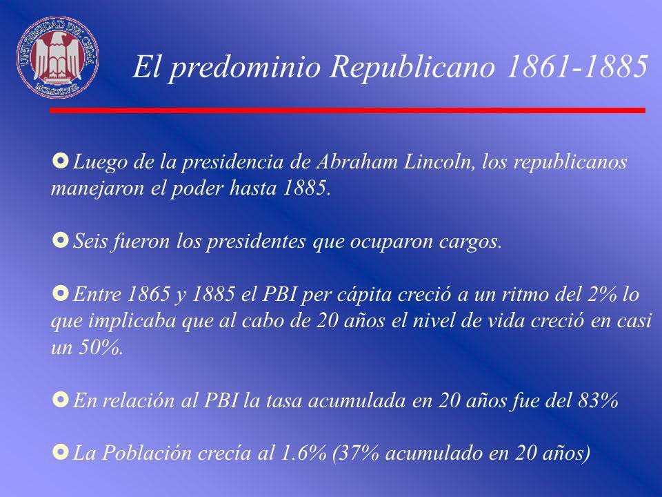 El predominio Republicano 1861-1885