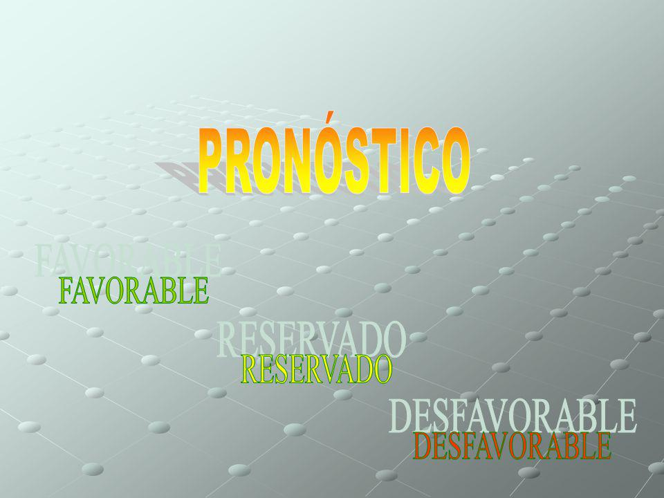 PRONÓSTICO FAVORABLE RESERVADO DESFAVORABLE