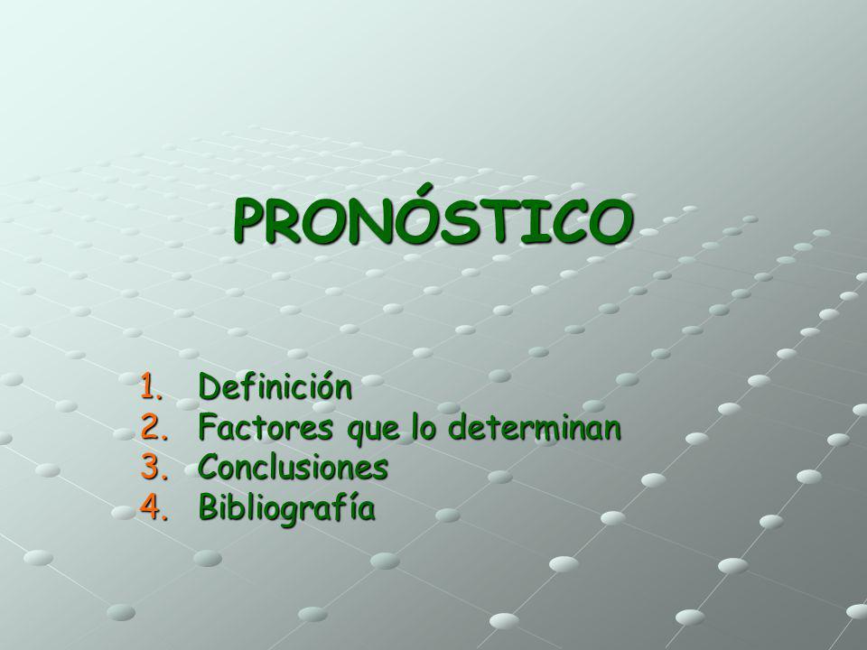 Definición Factores que lo determinan Conclusiones Bibliografía