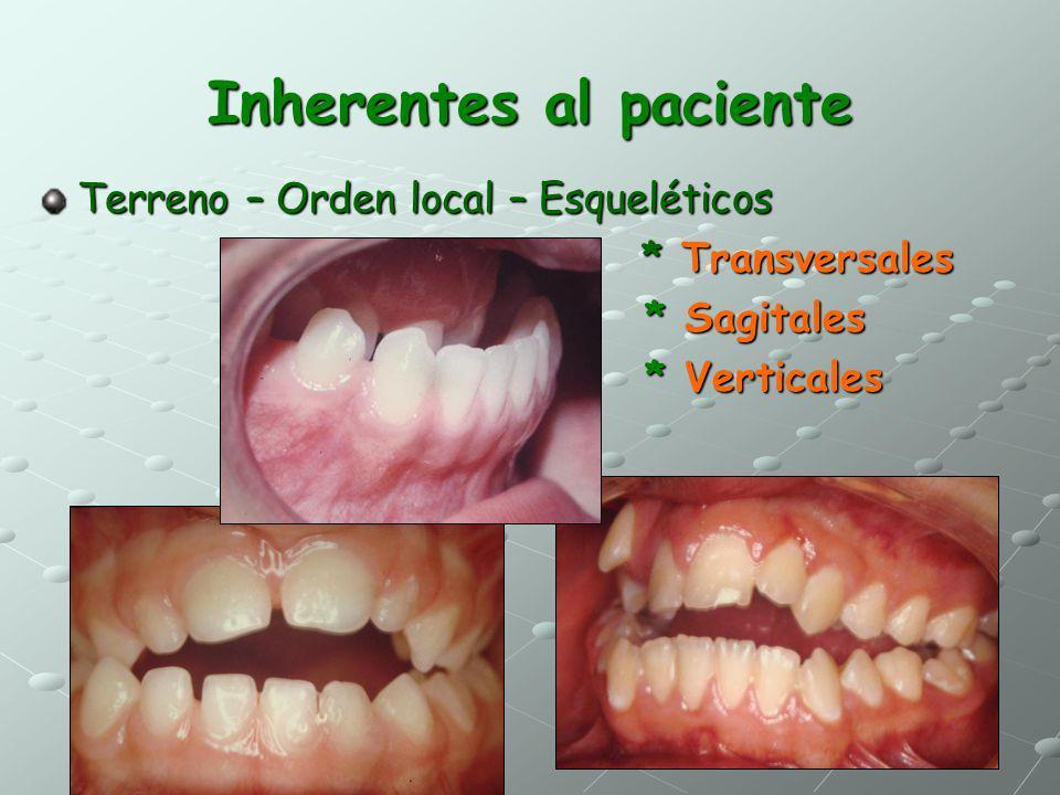Inherentes al paciente