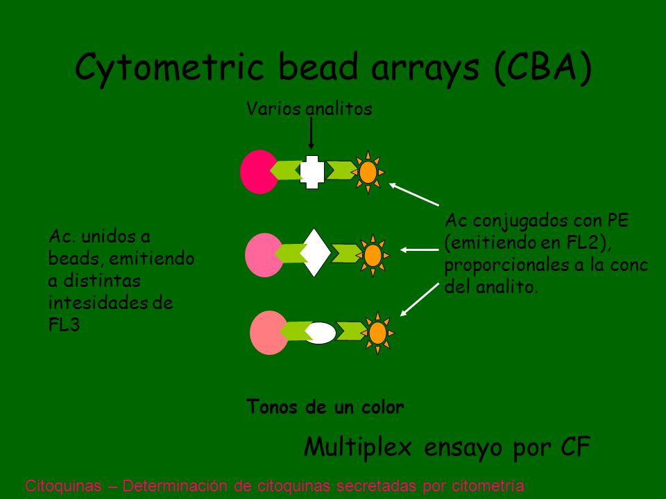 Cytometric bead arrays (CBA)