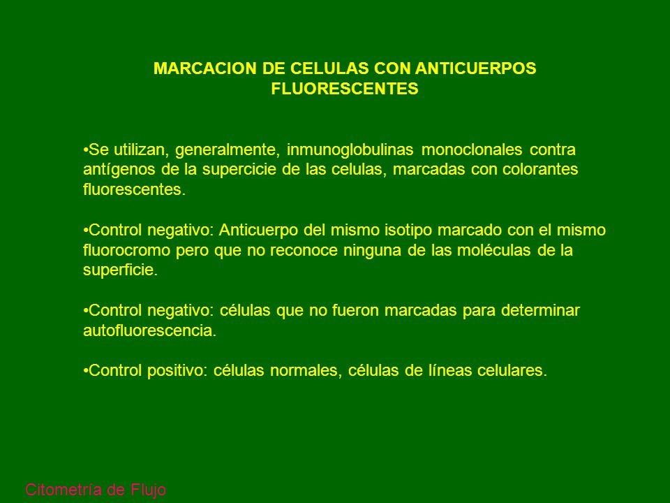 MARCACION DE CELULAS CON ANTICUERPOS FLUORESCENTES