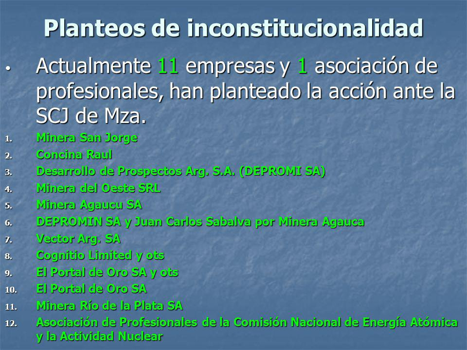 Planteos de inconstitucionalidad