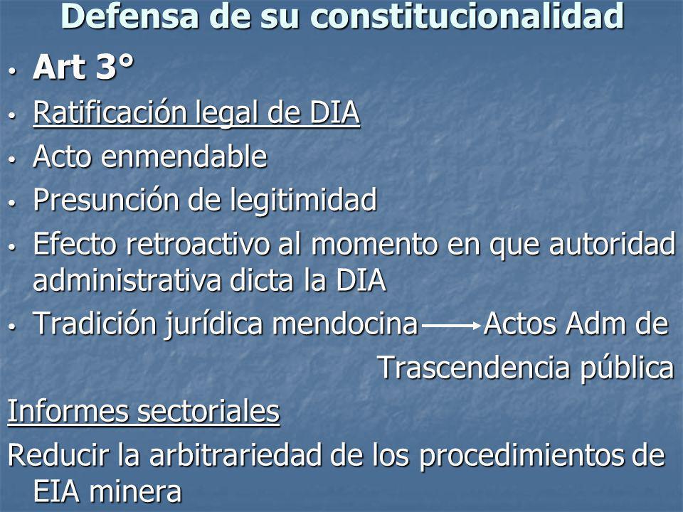 Defensa de su constitucionalidad