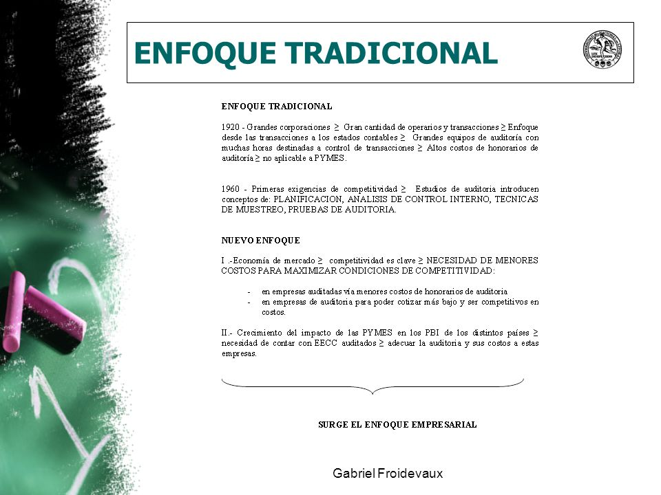 ENFOQUE TRADICIONAL Gabriel Froidevaux