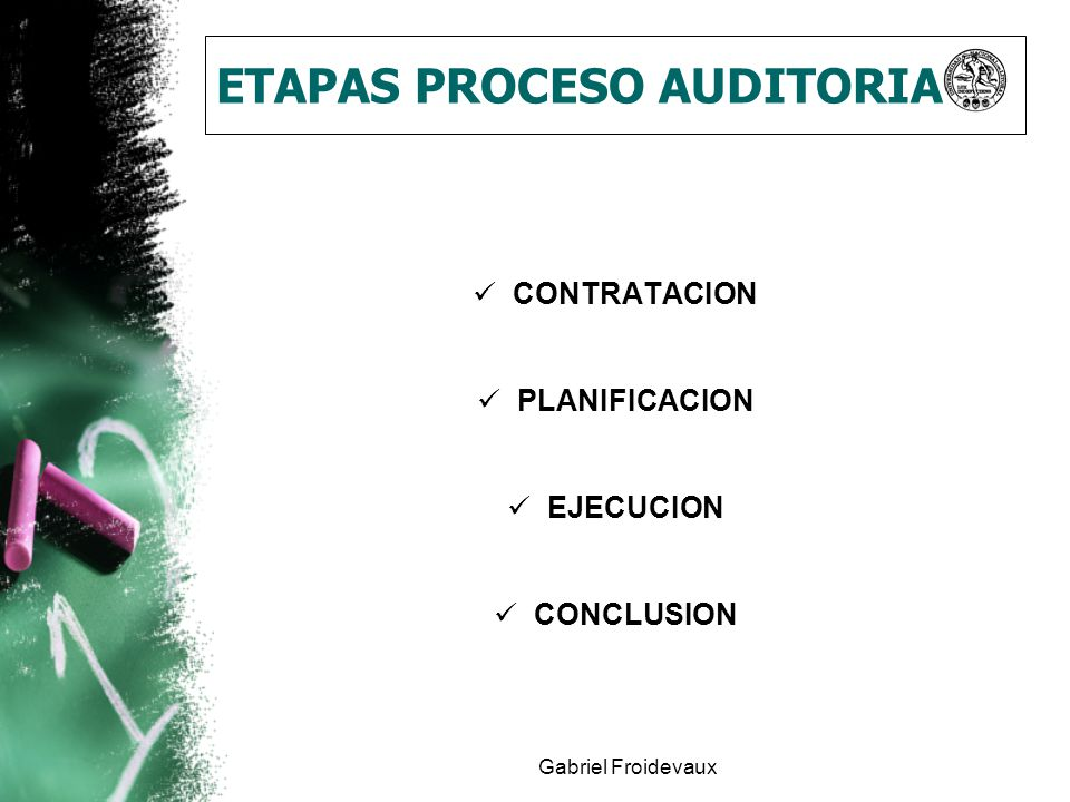 ETAPAS PROCESO AUDITORIA