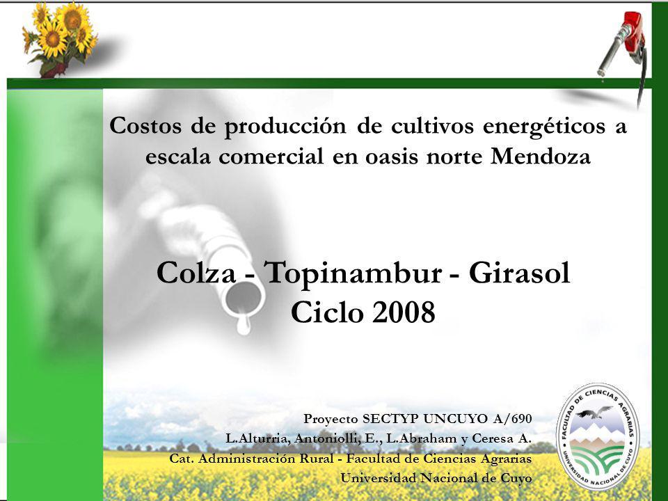 JORNADA DE CULTIVOS ENERGÉTICOS EN LA REGIÓN CUYO