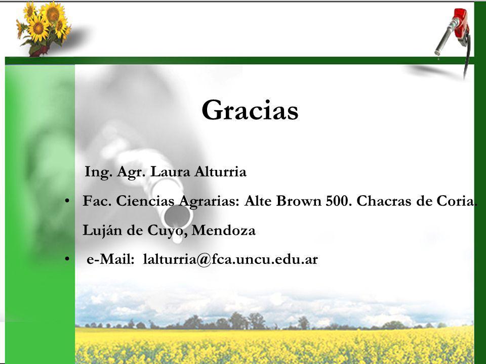 Gracias Ing. Agr. Laura Alturria