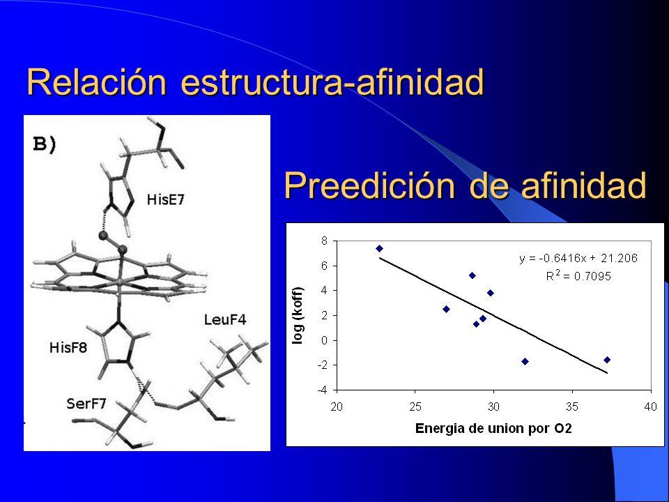Relación estructura-afinidad