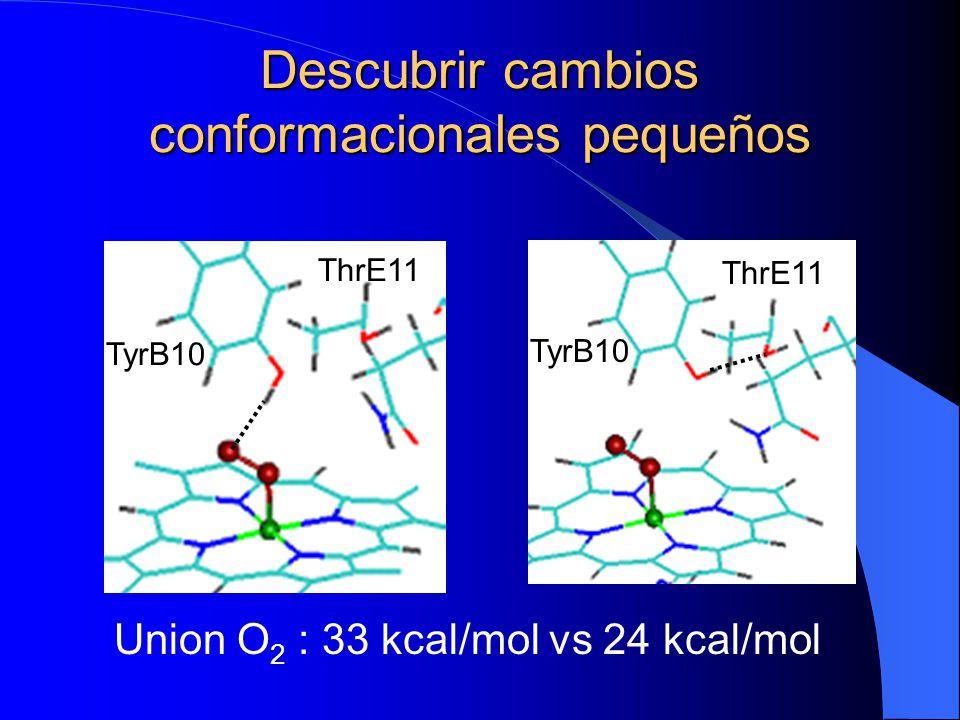 Descubrir cambios conformacionales pequeños