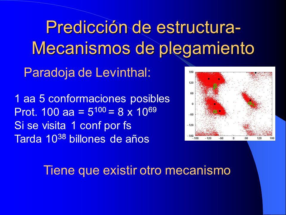 Predicción de estructura-Mecanismos de plegamiento