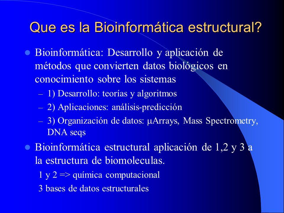 Que es la Bioinformática estructural