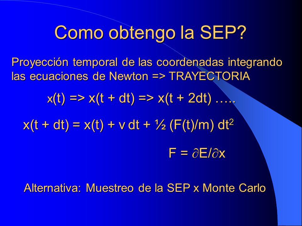 Como obtengo la SEP x(t + dt) = x(t) + v dt + ½ (F(t)/m) dt2