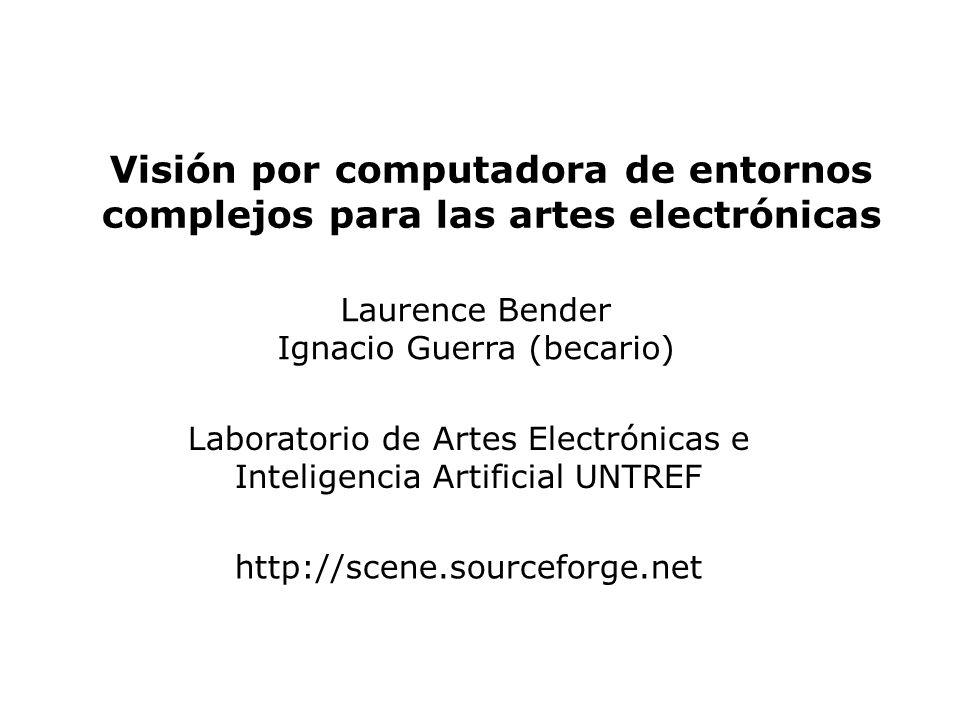 Visión por computadora de entornos complejos para las artes electrónicas
