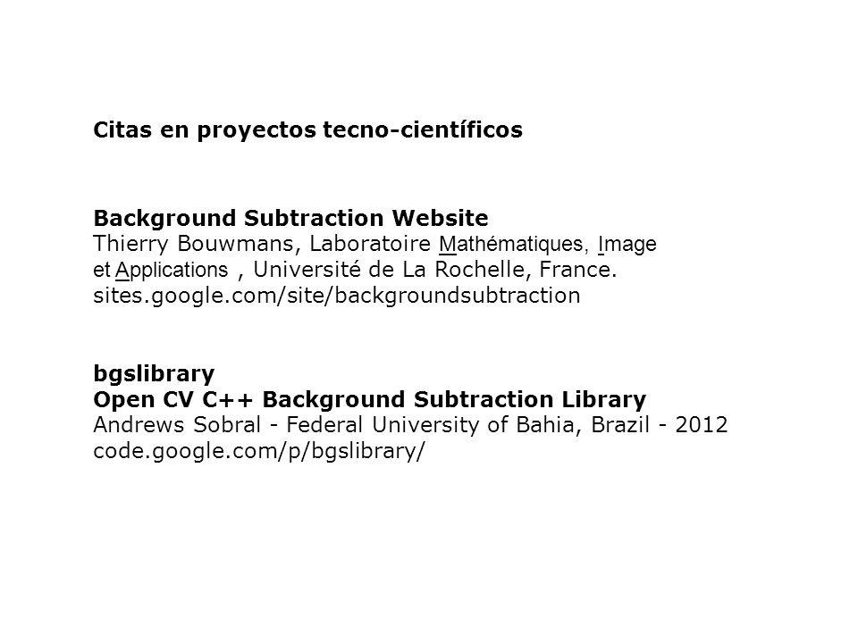 Citas en proyectos tecno-científicos
