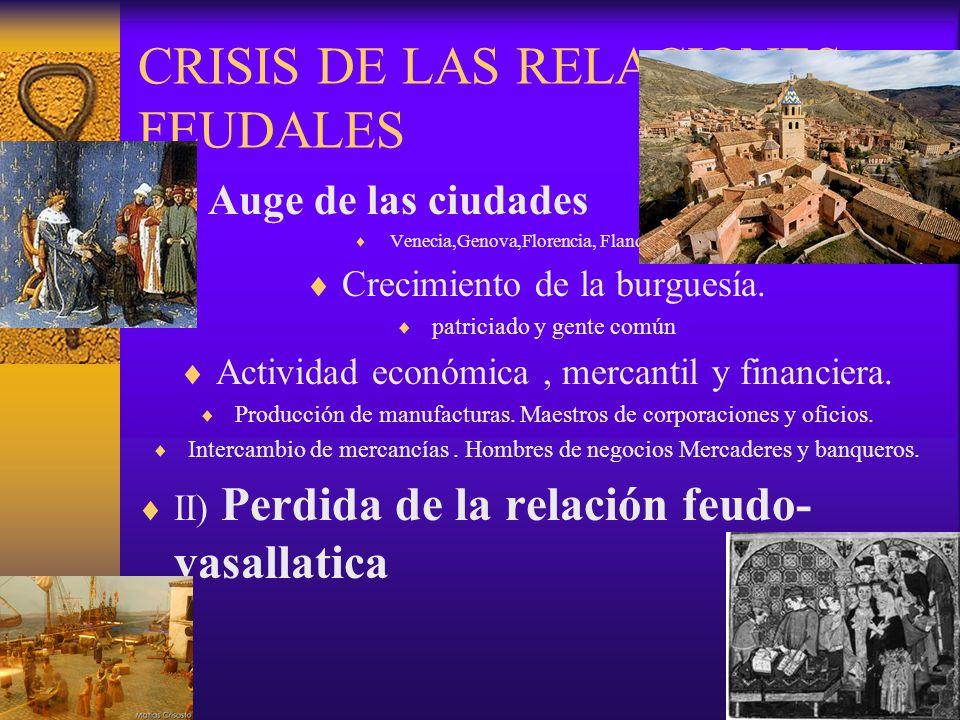 CRISIS DE LAS RELACIONES FEUDALES