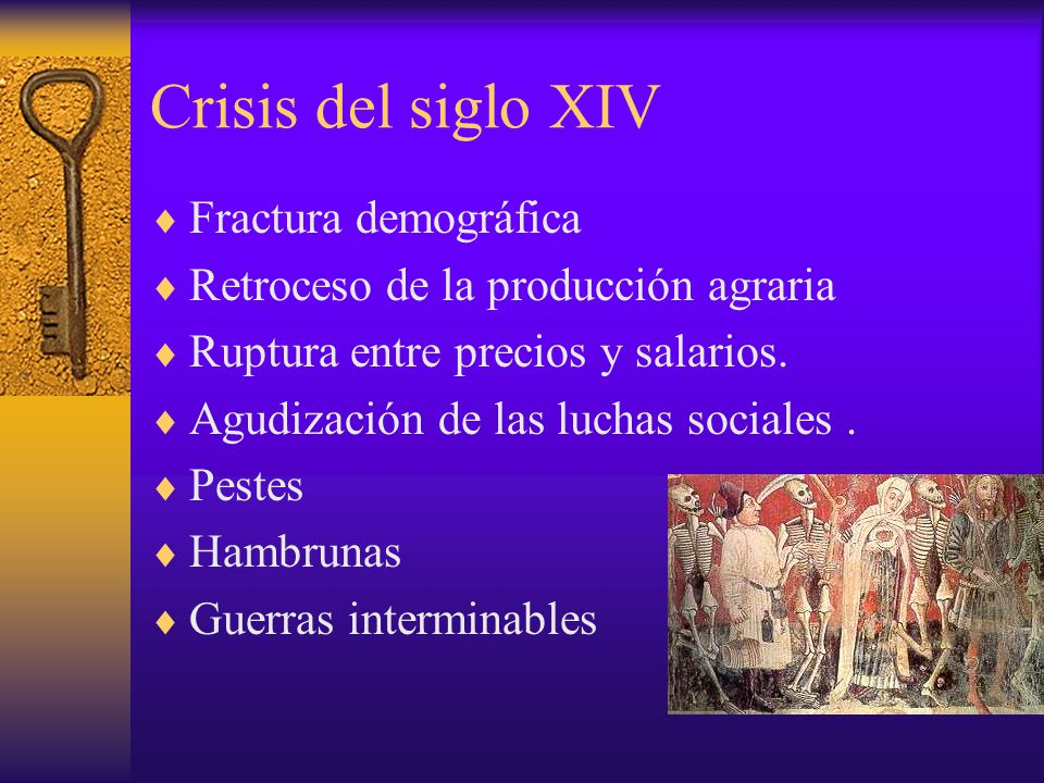 Crisis del siglo XIV Fractura demográfica