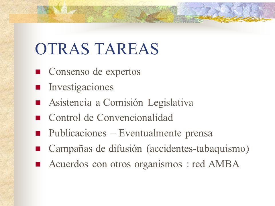 OTRAS TAREAS Consenso de expertos Investigaciones