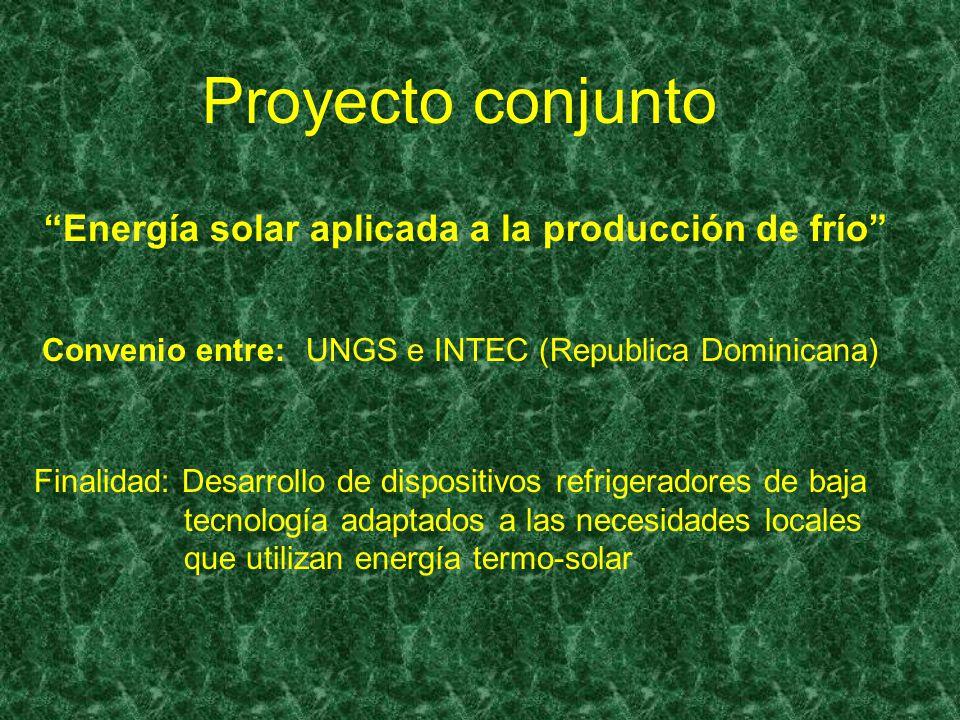 Proyecto conjunto Energía solar aplicada a la producción de frío