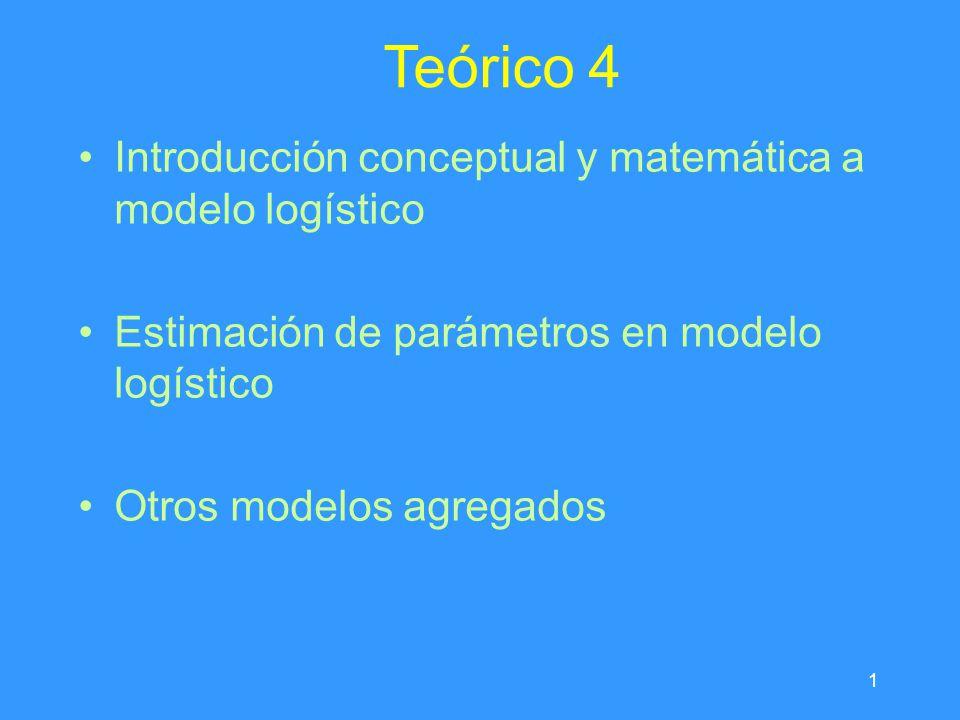 Teórico 4 Introducción conceptual y matemática a modelo logístico