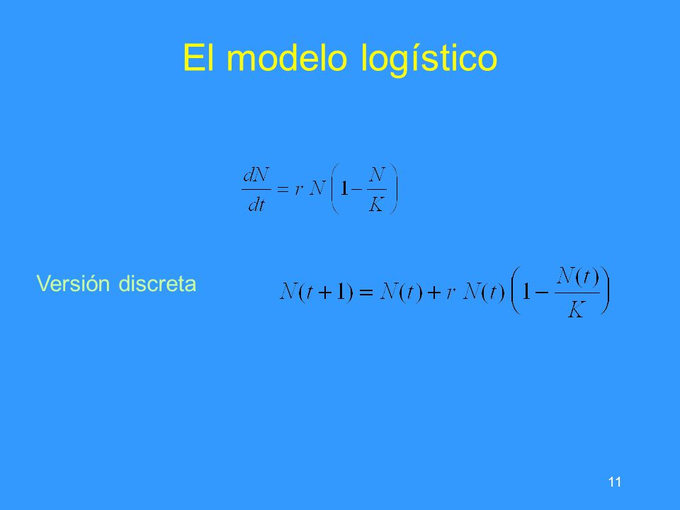 El modelo logístico Versión discreta